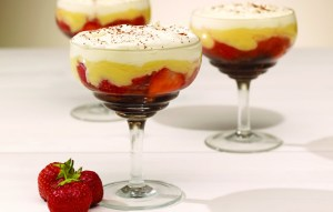 Strawberry and Brownie Trifles picture