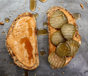 Image of peanut butter and jalapeños