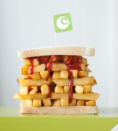 Image of a chip butty