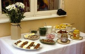 Image of a Swedish Midsummer meal