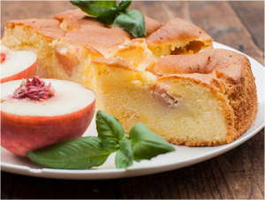 Peach Cake with Basil recipe at Ocado