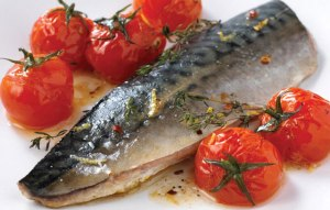 Recipe for Mackerel with Garlic and Tomatoes from Ocado's Recipe Site