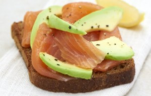 Recipe for Smoked Salmon and Avocado Rye Toasts from Ocado's recipe site