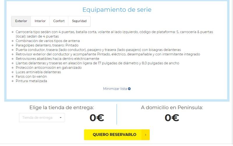 La nueva ficha de coche en OcasionPlus es más intuitiva y ofrece mayor información