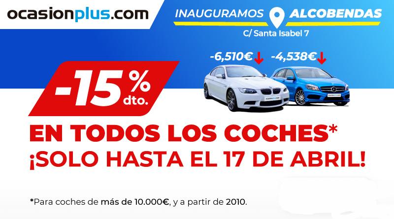 15% de descuento en coches de más de 10.000 euros hasta el 17 de abril