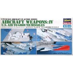 Hasegawa - Set AIRCRAFT WEAPONS IV U.S. MISSILES, Escala 1:72, Ref: X72-4
