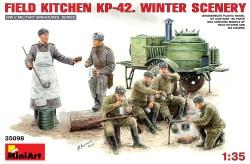 Miniart-Set de cocina KP-42, escena de invierno. Escala 1:35. Ref: 35098.