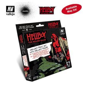 Vallejo - Set Model color, Hell Boy paint set. 8 Botes 17 ml + figura. Ref: 70187.