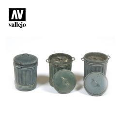 Vallejo - Cubos de basura. Escala 1:35. Ref: SC212.