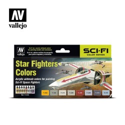 Vallejo - Set Model air Star Fighters colors. 8 Colores. Bote 17 ml. Ref: 71612.