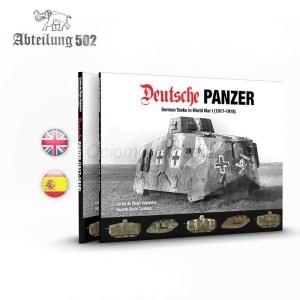Libro DEUTSCHE PANZER. Marca AK Interactive. Ref: ABT721.