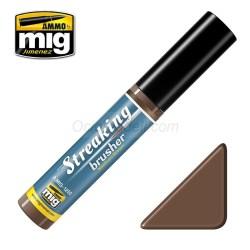 Streakingbrusher: Medium brown, marrón medio. Marca Ammo of Mig Jimenez. Ref: AMIG1250.