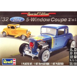 Vehículo 1932 Ford 5 Window Coupe 2n1. Escala 1:24. Marca Revell. Ref: 14228 ( 85-4228 ).