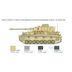 Pz. Kpfw.IV Ausf.H. Escala 1:35. Marca Italeri. Ref: 6578.