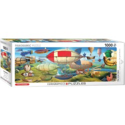The Great Race. Puzzle panorámico, 1000 pz. Marca Eurographics. Ref: 6010-5633.