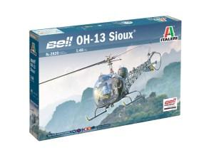 OH-13 Sioux. Con calcas españolas, desde´50. Escala 1:48. Marca Italeri. Ref: 2820.