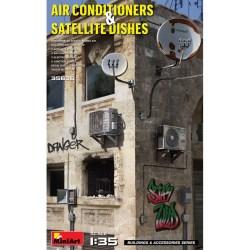 AIR CONDITIONERS & SATELLITE DISHES. Escala 1:35. Marca Miniart. Ref: 35638.