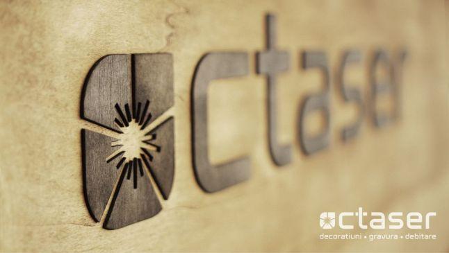 octaser placa pentru branding lemn