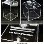 Urne plexiglas / Cutii plexiglas pentru donatie