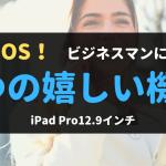 iPadOSをビジネスで使う時の嬉しい機能8つを紹介!iPadPro12.9インチ
