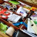 desk drawer clutter