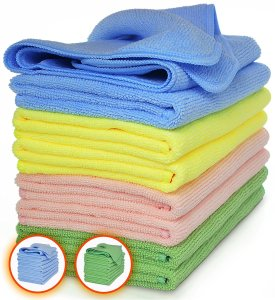 Clean with microfiber cloths to remove pollutants (we love VibraWipe's)