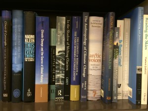 Climate studies books on my shelves