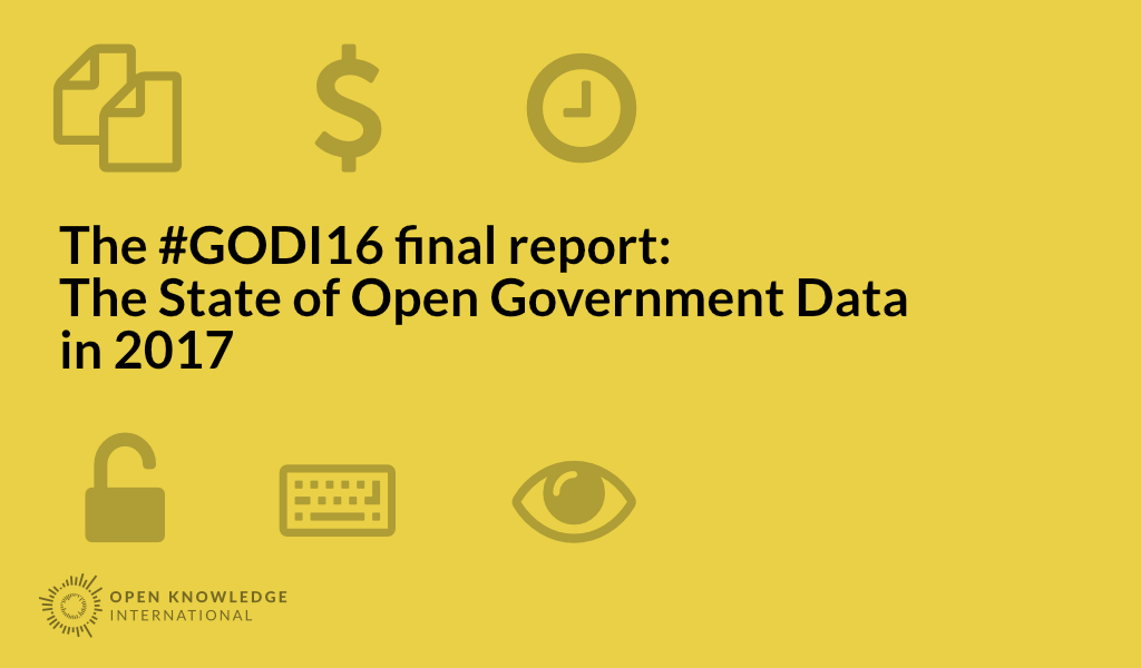 the updated global open data index has been published today along with our report on the state of open data this year the report includes a broad overview