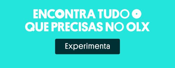 """Banner com texto """"Encontra tudo no OLX"""" e botão para o site."""