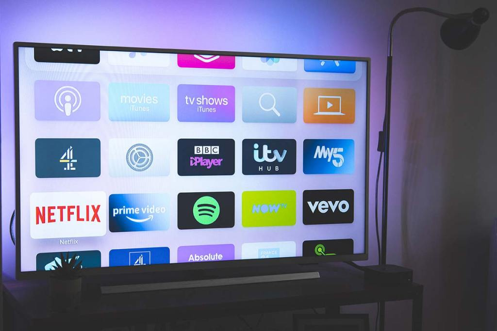 Smart tv ligada