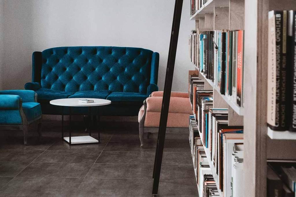 Biblioteca no sótão