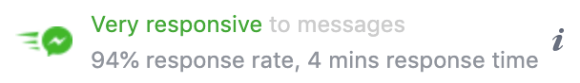 Facebook 粉絲團,快速回覆標章