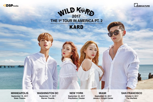 KARD #WILDKARDinUSA official poster