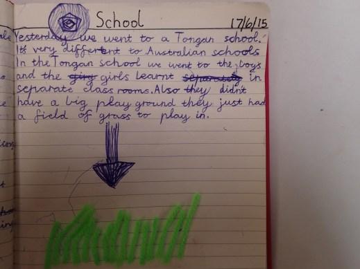 Amber's visit to a Tongan School.