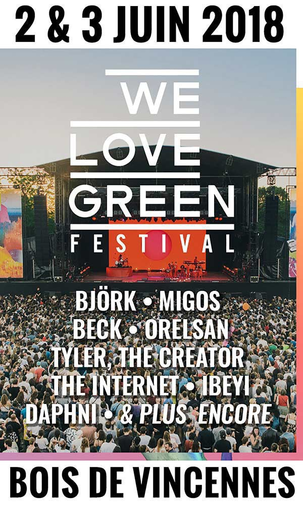 Programmation We Love Green 2018