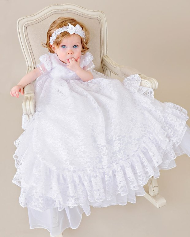 Lucy Lace Christening Gown