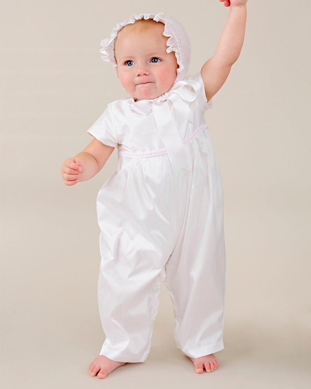 Phoebe silk after christening romper