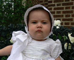 Silk Christening Gowns at One Small Child