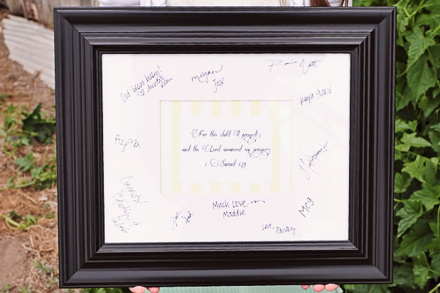 Christening Party Signature Frame