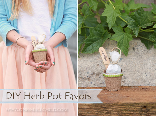 Herb Pot Favor Tutorial from One Small Child Christening Lookbook Shoot