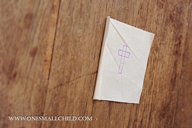 Lavender Sachet Tutorial Cross Design