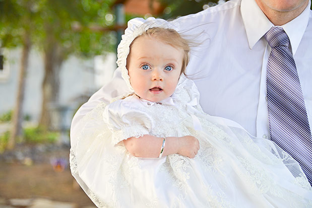 Chloe Silk Christening Gown