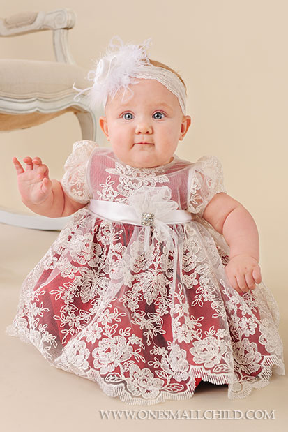 Red Silk Baby Holiday Dress