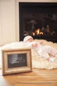 Christmas Christening Portrait Ideas | One Small Child