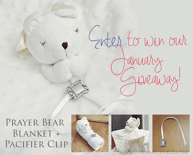 bear blanket pacifier clip giveaway