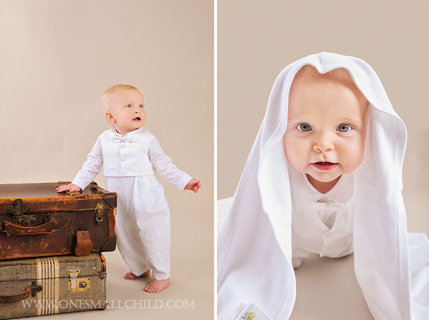 Alexander Boy's Baptism Romper | One Small Child