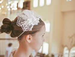 Cross Lace Fascinator First Communion Headpieces | Hair Accessories for Girls