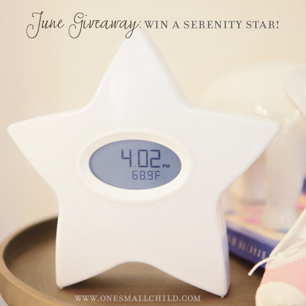 Serenity Star Giveaway | Electronic Feeding & Sleep System at One Small Child