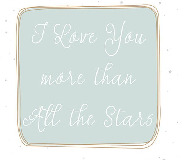Newborn Quote: I love you more than all the stars | www.OneSmallChild.com
