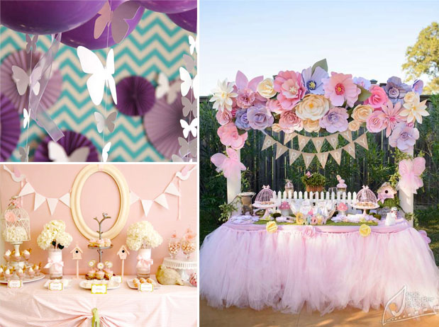 Springtime Girl Baby Shower Themes | One Small Child
